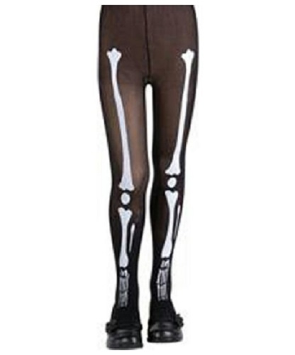 Rubies Childs Ghost Print Tights