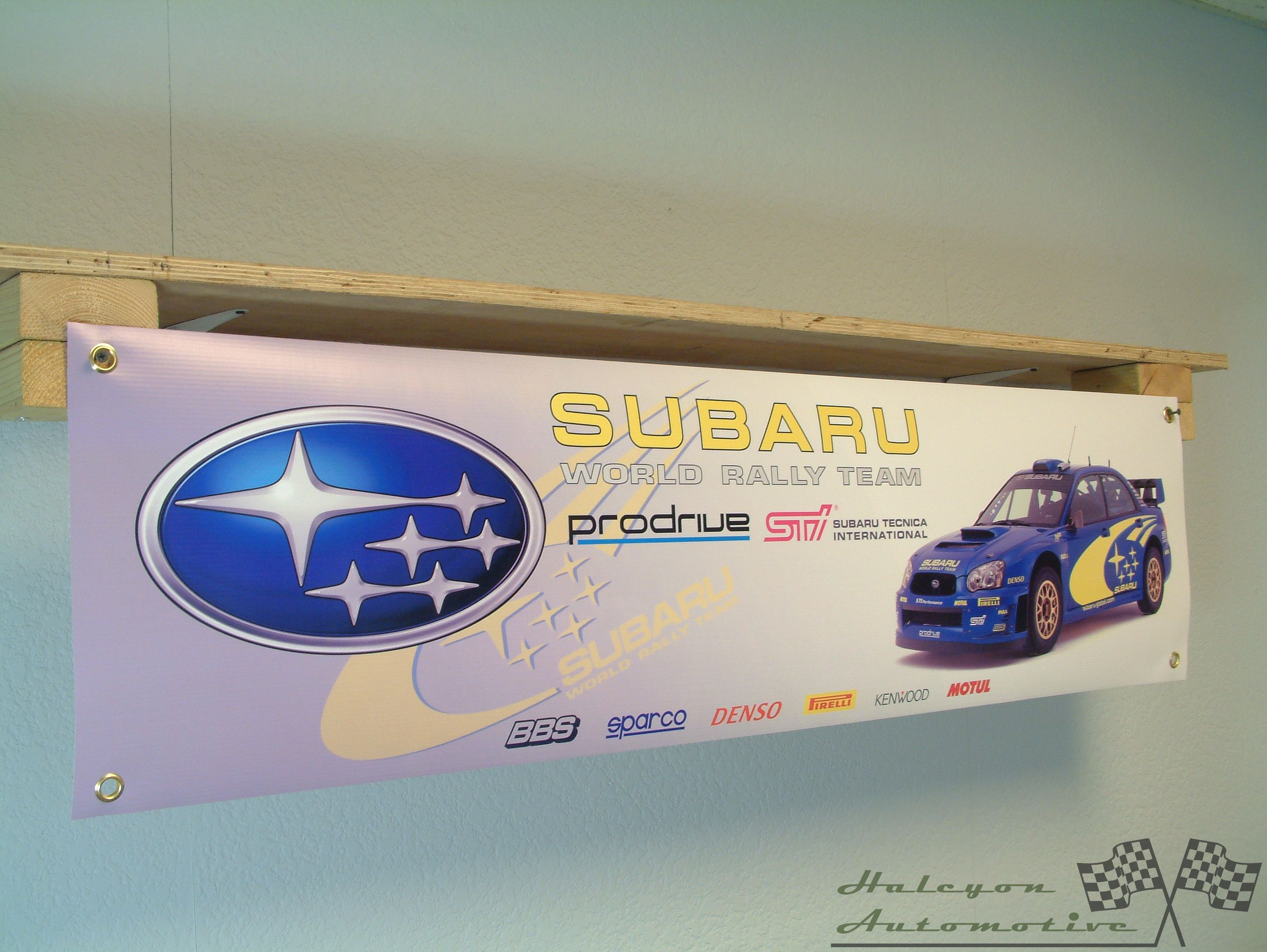 Subaru WRX Impreza Workshop Garage Car Display Banner