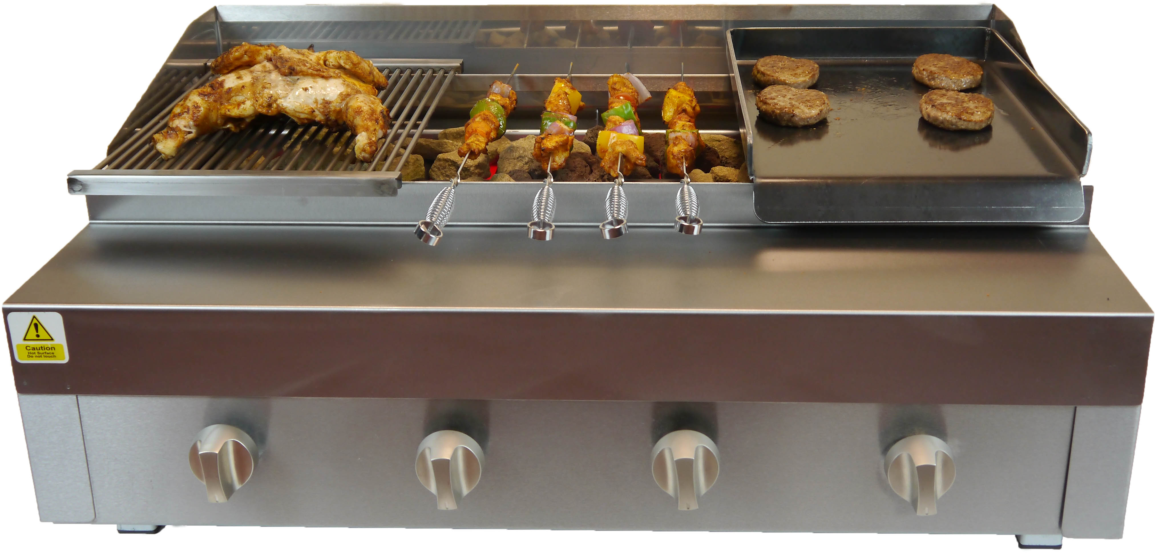 3 IN 1 CHAR GRILL BBQ GRILL ON STAND WITH GRIDDLE /& HOTPLATE CHARGRILL CHARCOAL